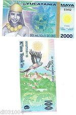 MAYA YUCATANIA Billet 2000 SOLES DE ORO 21/12/ 2012 POLYMER UNC NEUF