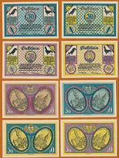 Königsberg  i.Pr. (OPr.) 4 x 50 Pfennig   Serienscheine GM 723.1  komplett 1921