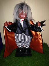 """Vintage Halloween 15"""" Animated Vampire with Laughing Sound and Blinking Eyes"""