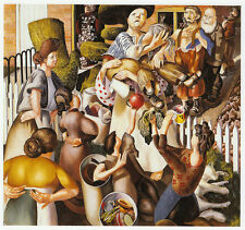 The Dustman or the lovers Stanley Spencer 10 x 12 in ready mounted print SUPERB