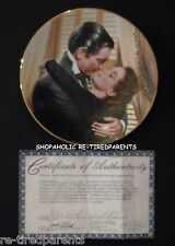 GONE WITH THE WIND – MARRY ME, SCARLETT – COLLECTOR PLATE & COA - VINTAGE 1991