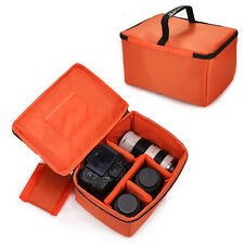 Large Waterproof DSLR SLR Camera Insert Padded Partition Lens Bag Carry Case