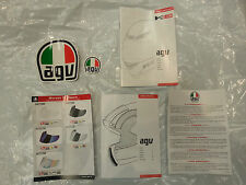 AGV K3 EUROPEAN SAFETY INSTRUCTION MANUALS WITH STICKERS FACTORY STANDARD NEW