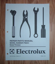 ELECTROLUX PM85C SNOW BLOWER  ILLUSTRATED PARTS LIST