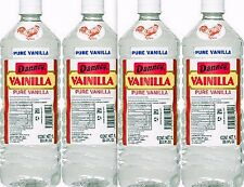 4 X Clear Danncy Pure Mexican Vanilla Extract 33oz Ea Plastic Bottle From Mexico