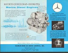 VINTAGE AD SHEET #1667 - MERCEDES BENZ ENGINE MODEL - MARINE DIESEL