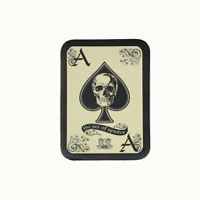 Biker Chopper The Ace Of Spades Pik Ass Skull Echt Leder Aufnäher Leather Patch