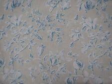 "SANDERSON CURTAIN FABRIC ""Magnolia & Pomegranate"" 2.6 METRES PARCHMENT/SKY BLUE"