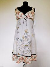 Womens - MEXX Brand New dress - Empire Style Gorgeous Print Natural Linen 14 16