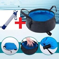 Personal Water Filter Purify Life Survival Straw + Portable Water Basin Sink