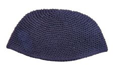 BIG JEWISH DARK BLUE KIPPAH - yarmulka/yarmulke/hat/knit/yamaka/hat judaism