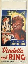 """RINGSIDE (VENDETTA SUL RING)"" Affiche Italienne originale entoilée (Don BARRY)"