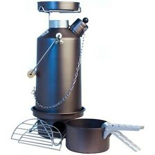FULL KIT! 1.5ltr Hard Anodised Camping Ghillie Kettle With Pans (our ref 6)
