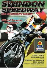 Speedway Programme SWINDON ROBINS v WORKINGTON COMETS Aug 2003