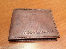 AUTHENTIC BRAND NEW TOMMY HILFIGER LEATHER WALLET  BROWN NO BOX L@@K -----------