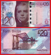 ESCOCIA BANK OF SCOTLAND 20 Pounds 2007 Sir Walter Scott Pick 126a  SC / UNC