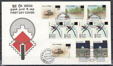 * Sri Lanka, Scott cat. 1512-1516. Surcharged Values issue on a First day cover.