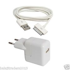Charger for Apple iPhone 4 / 4S / iPod- USB Adapter & Cable - Premium Quality