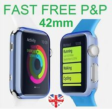 Purple Slim Hard Snap On Case Cover Screen Protector Apple Watch iWatch 42MM 42