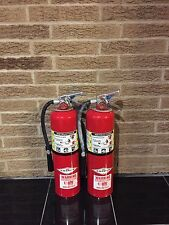 FIRE EXTINGUISHER 10LBS 10# ABC NEW CERT TAG LOT OF 2 NICE
