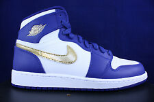 NIKE AIR JORDAN 1 RETRO HIGH GS ROYAL BLUE METALLIC GOLD 705300 406 SZ 7 Y