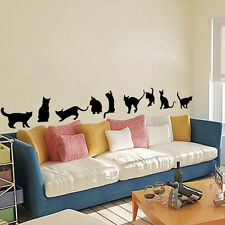 9 Cute Small Cats Playing Wall Sticker Decoration Vinyl Wall Decor For Kids Room