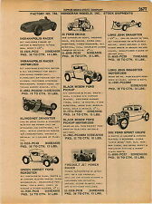 1961 ADVERT 6 PG Monogram Models Indianapolis Racer Ford Midget Race Car B66 Jet