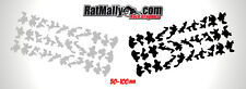 URBAN CAMO RACE GRAPHICS - URBAN CAMOUFLAGE DECALS / STICKER PACK OF 60 SMALL