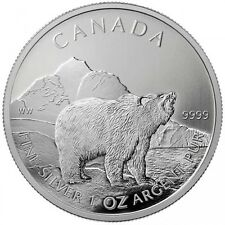 Royal Canadian Mint 1 oz Silver Grizzly Bear - (9999 Bullion Silver)