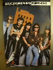 SCORPIONS Large 1990 PROMO POSTER casually posed CRAZY WORLD super mint cond