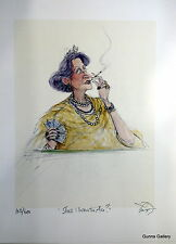Sue Macartney Snape Signed Limited Edition Print Shall I Throw the Ace Cards