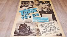 LE TRAIN DE 16H50 ! g pollock , agatha christie affiche cinema  1962 locomotive