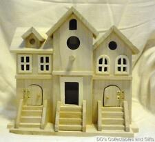 Unfinished Wood Brownstone Shaped Birdhouse Stain or Paint to Suit Your Needs
