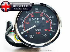 NEW SPEEDOMETER 0-160 Kmh KILOMETER BLACK DIAL FACE ROYAL ENFIELD MOTORBIKE