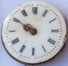 Antique Swiss Pocket Watch Movement 23 mm fancy dial for parts steampunk F3904