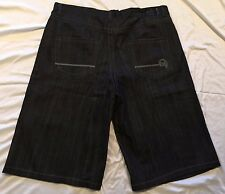 Mens Denim Shorts 46 Jeans Urban Hip Hop Fashion Casual Black Gray Summer