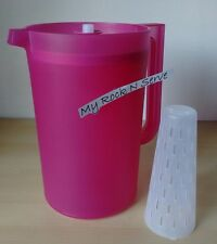 Tupperware 1 Gallon Pitcher with Push Button Seal and Infuser New