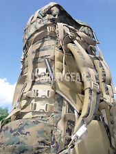 USMC Woodland Digital Main Marpat Marine Back Pack ILBE with Lid Radio + Pouch
