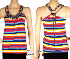 ConMiGo 2436 Multi Colour Beadwork Jersey Top