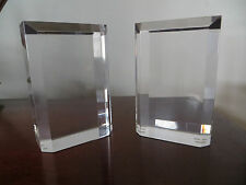 "Vintage 6"" Astrolite Lucite Bookends Ritts Co. Los Angeles  60's 70's."