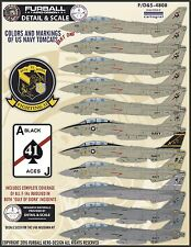 1/48 Furball F-14 Colors & Markings Part I decals for Hasegawa or Tamiya kit