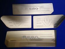 Scania v8 r580 air dam & wing inserts Stainless Steel  Etched Logo