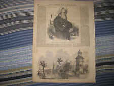 ANTIQUE 1857 PIERRE SAUVAGE MARITIME SCREW PROPELLER DELHI INDIA PALACE PRINT NR