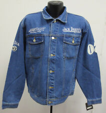 JACK DANIELS LARGE JACKET DENIM JEAN RCR STITCH MENS WHISKEY ALCOHOL VINTAGE VTG