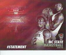 2015-16 NC State Basketball Schedule NCSU North Carolina Cat Barber Beejay Anya