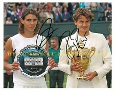 ROGER FEDERER AND RAFAEL NADAL AUTOGRAPHED AUTO 8x10 RP PHOTO