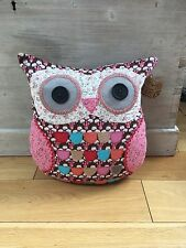 Sass And Belle Pink/brown Owl Cushion
