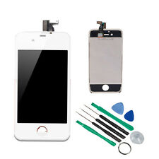 Replacement Assembly LCD Touch Screen Digitizer -White Glass  for iPhone 4S