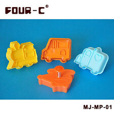 FOUR-C Car Train Plunger Cutter Set Fondant Plunger Cutter Cake Decorating Tools