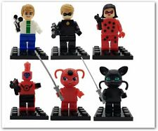Miraculous Ladybug Action Figure Toys Super Heroes Minifigure Building Blocks 6p